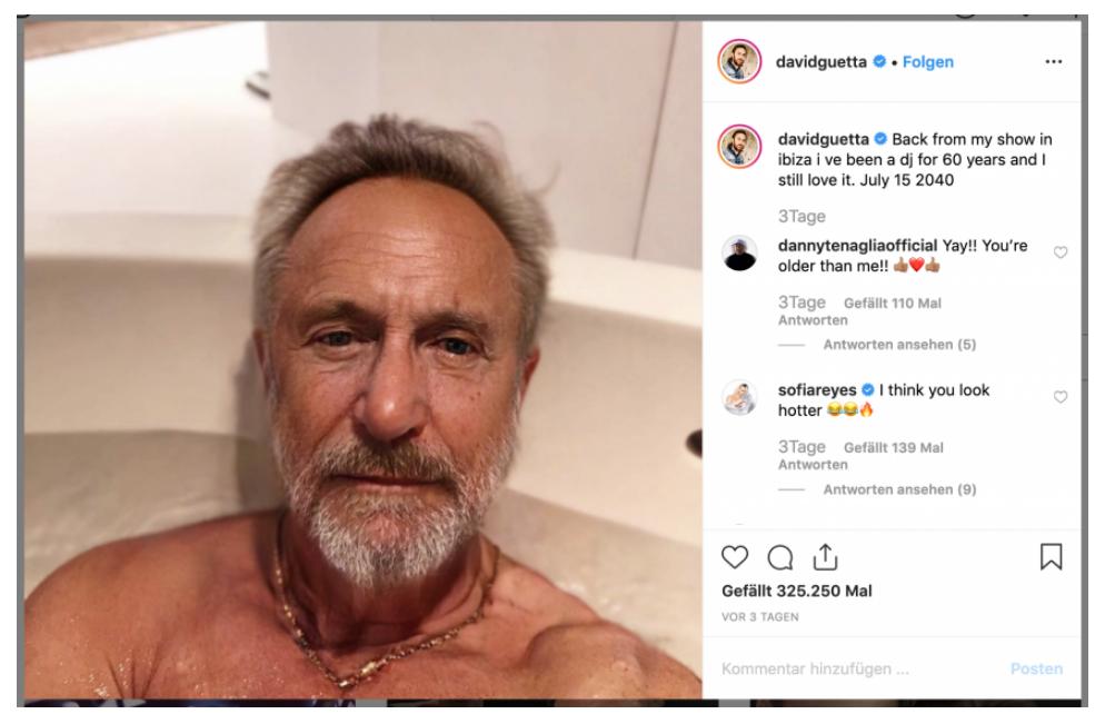 David Guetta Faceapp
